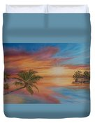 Island Reflections Duvet Cover