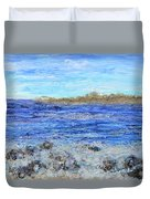 Islands And Surf Duvet Cover