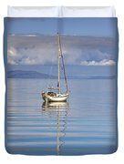 Isle Of Colonsay, Scotland Sailboat On Duvet Cover