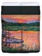 Isle Of Palms Sunset Duvet Cover