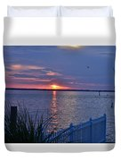 Isle Of Wight Bay Sunset Duvet Cover