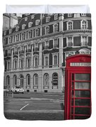 Isolated Phone Box Duvet Cover