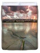 Israel Coast Duvet Cover