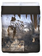 Israel, Jerusalem Abstract Of A Window Duvet Cover