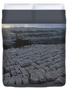 Israel, Jerusalem Mount Of Olives Duvet Cover