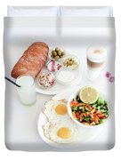 Israeli Breakfast Duvet Cover