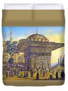 Istanbul Outdoor Bazaar Duvet Cover