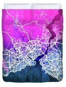 Istanbul Watercolor Duvet Cover
