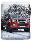 Isuzu In The Snow Duvet Cover