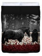 It Was A Dark And Rainy Night Duvet Cover