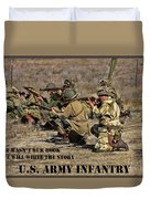 It Wasn't Our Book - Us Army Infantry Duvet Cover