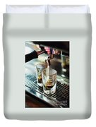 Italian Espresso Expresso Coffee Making Preparation With Machine Duvet Cover