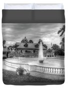 Italian Fountain Maymont B And W Duvet Cover