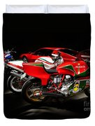 Italian Garage Duvet Cover