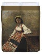 Italian Girl Duvet Cover