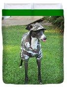 Italian Greyhound Army Duvet Cover