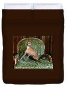 Italian Greyhound Portrait Duvet Cover