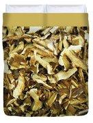 Italian Market Dried Mushrooms Duvet Cover