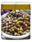 Italian Market Olives Duvet Cover