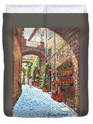 Italian Street Market Duvet Cover