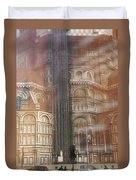Italy, Florence, Duomo And Campanile Duvet Cover