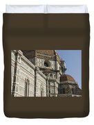 Italy, Florence, Facade Of Duomo Santa Duvet Cover
