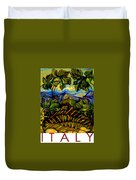 Italy Graphics Duvet Cover
