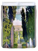 Italy Tivoli Vintage Travel Poster Restored Duvet Cover