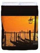 Italy Venice Riva Degli Schiavoni , Canale Grande Riva Degli Sch Duvet Cover