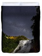 Ithaca Falls By Moonlight Duvet Cover