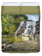 Ithaca Falls In Early Autumn Duvet Cover
