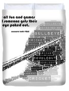 It's All Fun And Games Dart Duvet Cover