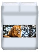 It's Good To Be King Duvet Cover
