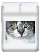 It's In The Cat Eyes Duvet Cover