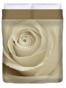 Ivory Rose Duvet Cover