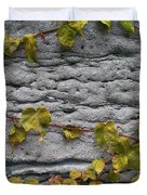 Ivy And Ancient Wall In Old Montreal Hd Photography Duvet Cover