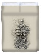 Ivy Covered Castle In The Woods Duvet Cover