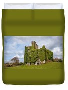 Ivy Covered Ruined Castle Ireland Duvet Cover