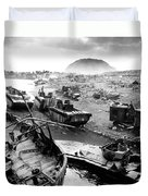 Iwo Jima Beach Duvet Cover