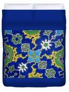 Iznik Tiles In Topkapi Palace Istanbul  Duvet Cover
