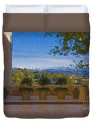 J Paul Getty Center Museum Terrace Duvet Cover