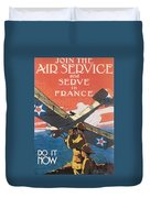Join The Air Service Duvet Cover