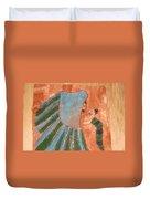 Jaaja Getu And Her Abigail - Tile Duvet Cover