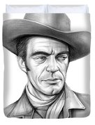 Cowboy Jack Elam Duvet Cover