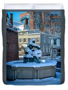 Jack Frost Visits For First Day Of Spring Duvet Cover
