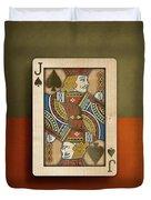 Jack Of Spades In Wood Duvet Cover