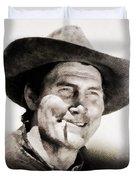 Jack Palance, Vintage Actor Duvet Cover