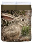 Jack Rabbit Portrait Duvet Cover