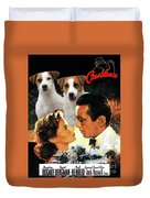 Jack Russell Terrier Art Canvas Print - Casablanca Movie Poster Duvet Cover