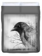 Jackdaw At My Window Duvet Cover